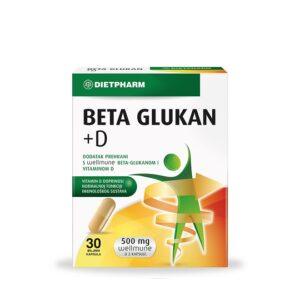 DIETPHARM Beta Glukan + D kapsule