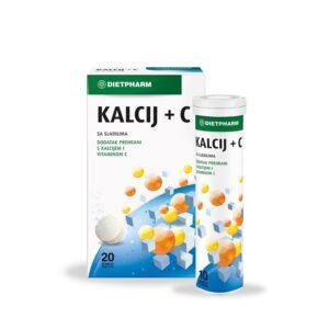 DIETPHARM Kalcij+C šumeće tablete