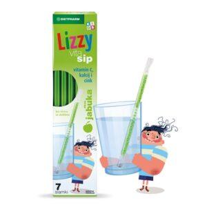 DIETPHARM Lizzy Vita Sip vitamin C Kalcij Cink slamke