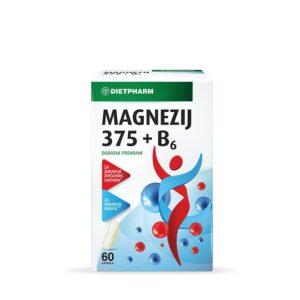 DIETPHARM Magnezij 375 + B6 kapsule
