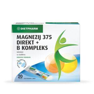 DIETPHARM Magnezij 375 Direkt + B kompleks granule