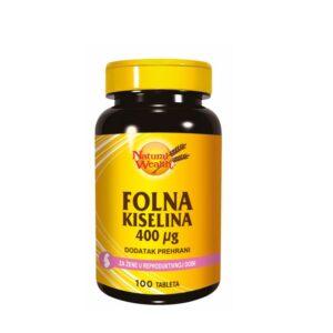NATURAL WEALTH Folna kiselina 400 μg
