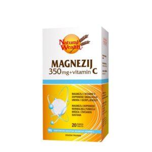 NATURAL WEALTH Magnezij 350 mg + vitamin C