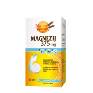 NATURAL WEALTH Magnezij 375 mg +B1+B6+C