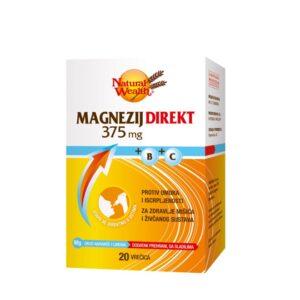 NATURAL WEALTH Magnezij Direkt 375 mg +B+C