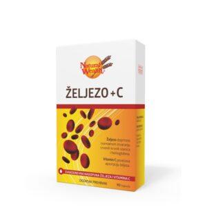 NATURAL WEALTH Željezo + vitamin C