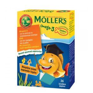 Mollers Omega 3 gumeni bomboni ribice