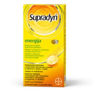 SUPRADYN energija koenzim Q10 šumeće tablete
