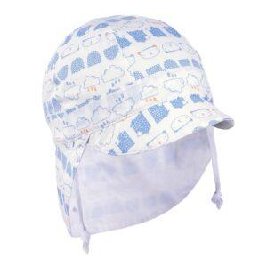 TUTU UVzaštita SPF50 kapa bijelo plava dvostrana