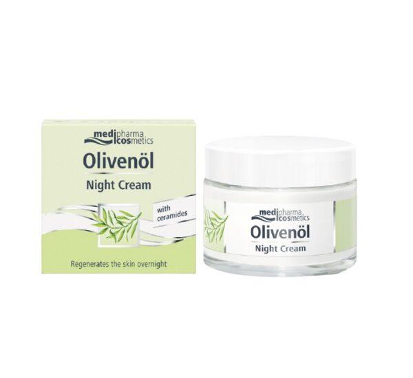 MEDIPHARMA COSMETICS Olivenol noćna krema za lice regeneracija ceramidi
