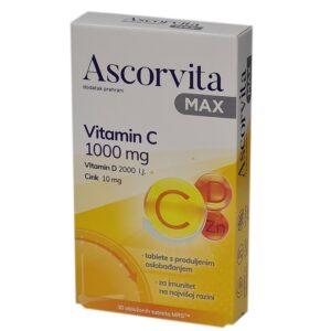 Ascorvita MAX vitamin C 1000mg 30 tableta