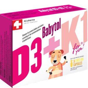 Babytol D3 + K1 30 kapsula